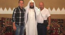 Dr. Johan & his son with Dr. Abdullah Abu-Eshy
